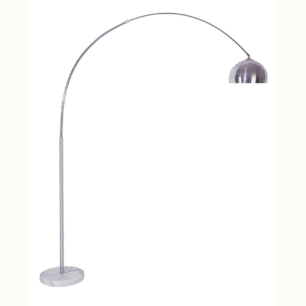 85 arch floor lamp marble base this arch lamp adds a bit of cool. Black Bedroom Furniture Sets. Home Design Ideas