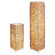 Ore Cube Rattan Lamp Set - Table Lamp + Floor Lamp at Kmart.com