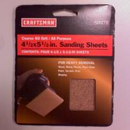 "Craftsman 4 1/2"" x 5 1/2"" 60 grit sanding sheet at Craftsman.com"