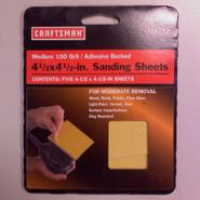 "Craftsman 4 1/2"" x 4 1/2"" 100 grit sanding sheet at Craftsman.com"