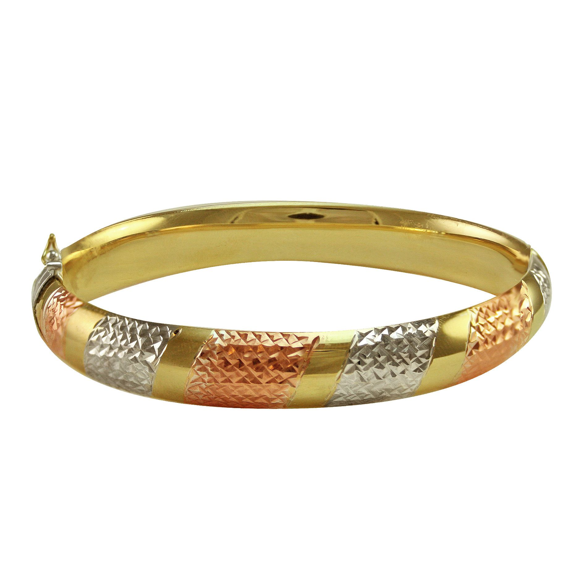 10kt Gold and Sterling Silver Bangle