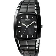 Citizen Mens Calendar Date Eco-Drive Watch w/Black Rectangle Dial & Expansion Band at Sears.com