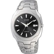 Citizen Mens Calendar Date Eco-Drive Watch w/Black Dial & Silvertone Expansion Band at Sears.com