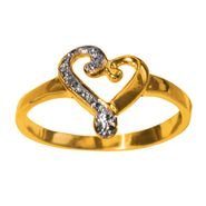 18k Gold Over Sterling Silver Heart Ring with Diamond Accent at Kmart.com