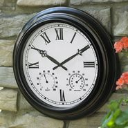 Garden Oasis Metal Clock with Temperature & Humidity Gauge at Sears.com