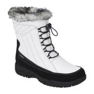 Totes Women's Winter Boot Eve Water Repellant Thermolite -White/Black at Sears.com