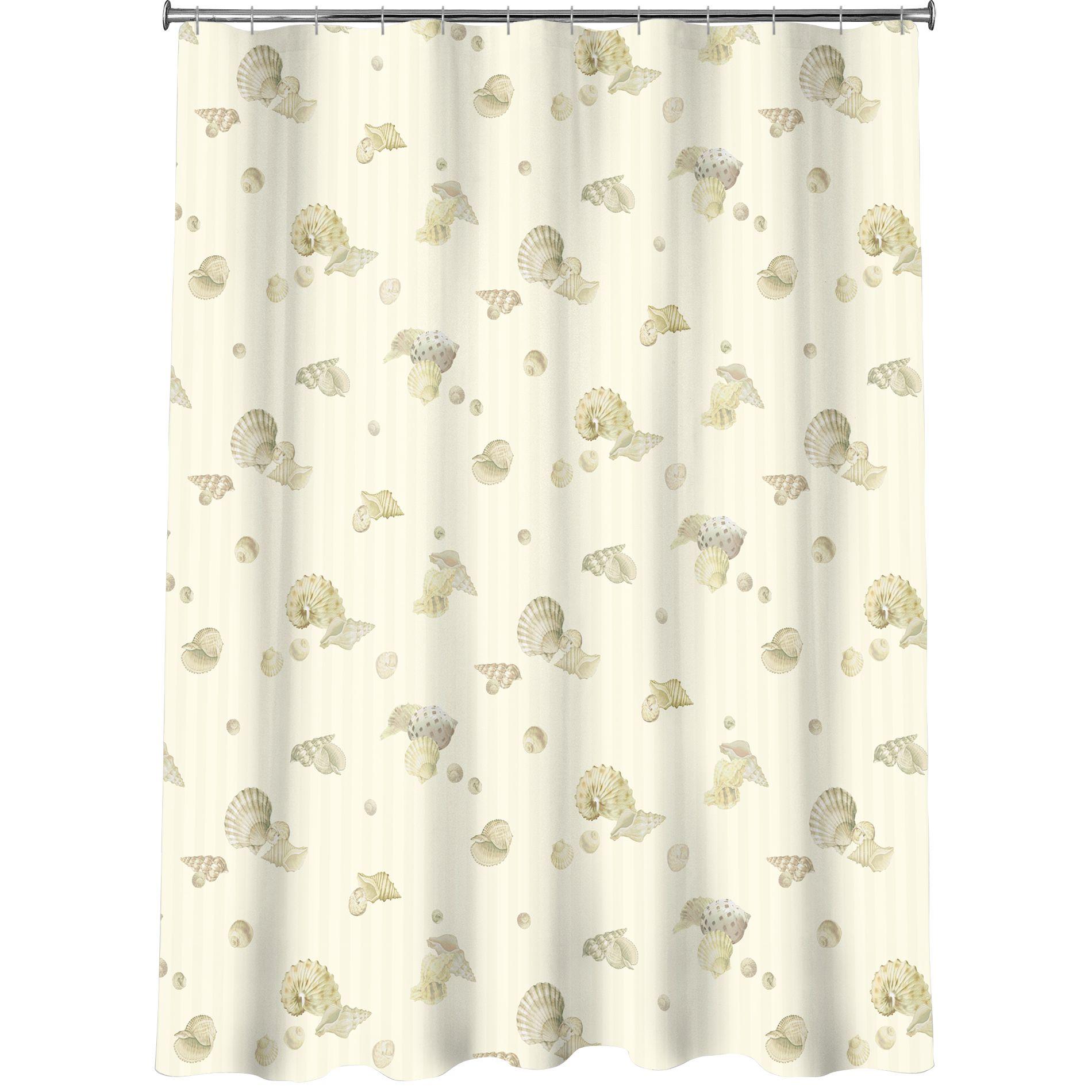 Essential Home Pearl Shells Shower Curtain