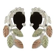 Black Hills Gold Tricolor 10k Facetted Onyx Earrings at Kmart.com
