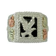 Black Hills Gold Tricolor Sterling Silver Men's Eagle Ring at Kmart.com