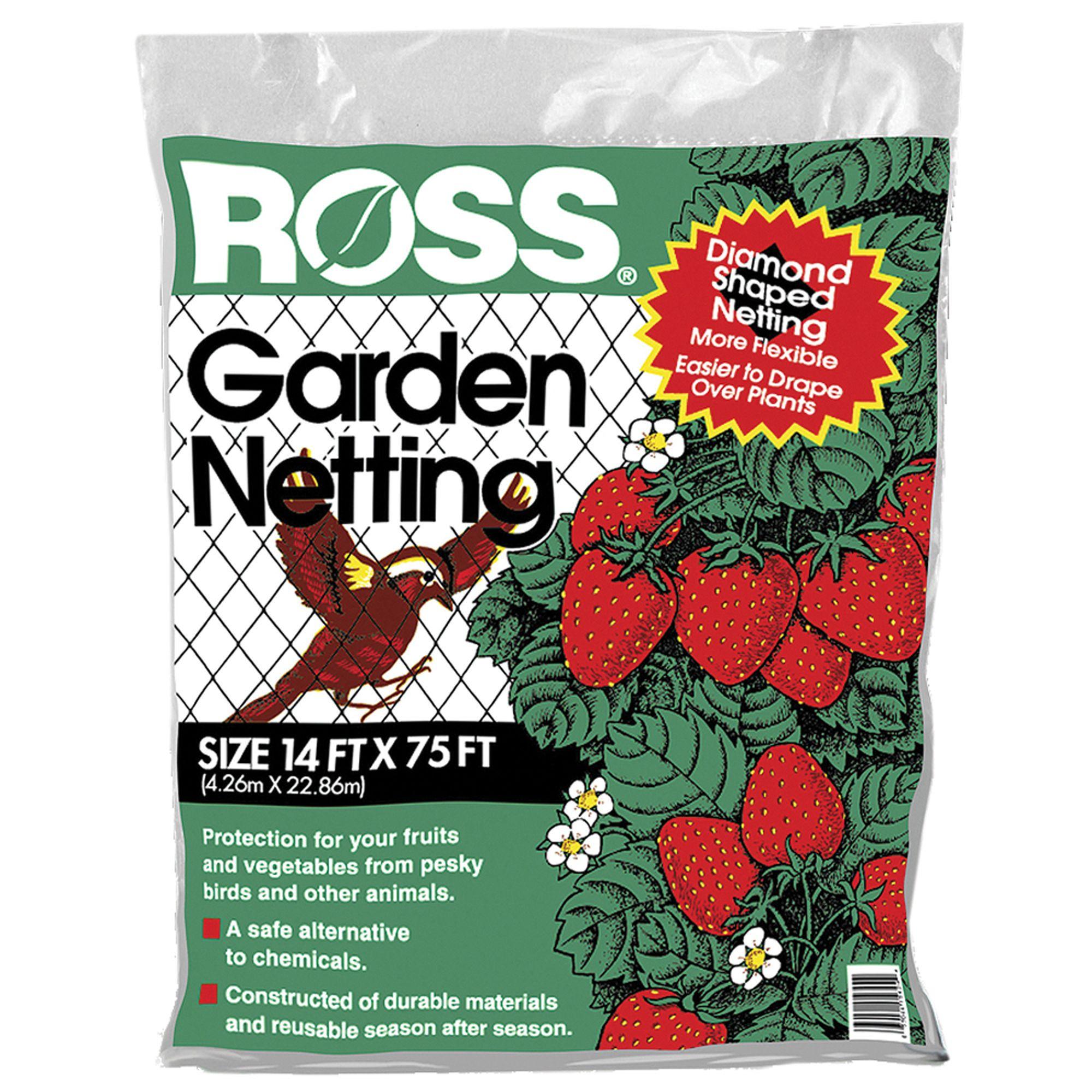 Easy Gardener EGP15800 Ross Garden Netting, 14 Feet X 75 Feet, Diamond