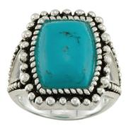 Square Turquoise Ring in Sterling Silver at Kmart.com