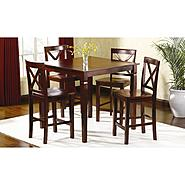Jaclyn Smith 5 pc Mahogany High-Top Dining Set at Sears.com
