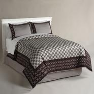 Jaclyn Smith Chocolate Chain Links Comforter at Kmart.com