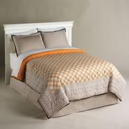 Jaclyn Smith Orange Chain Links Comforter at Kmart.com