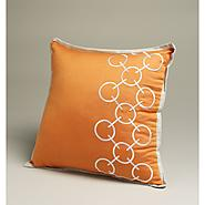 Jaclyn Smith Orange Chain Links Square Embroider Decorative Pillow at Kmart.com