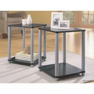 Essential Home End Tables in Black and Silver 2 Table Set at Kmart.com