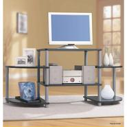 Essential Home Black and Silver Entertainment Center at Kmart.com