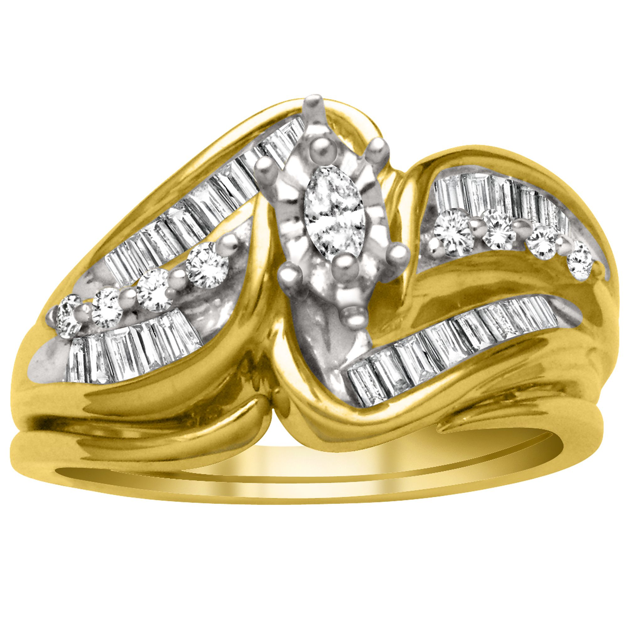 1/2cttw Diamond Ring in 10K Yellow Gold                                                                                          at mygofer.com