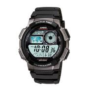 Casio Mens Calendar Day/Date Eco-Friendly Watch w/Digital Dial and Black Resin Band at Kmart.com