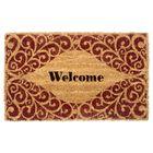 colormate welcome network scroll doormat