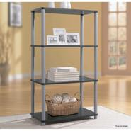 Essential Home 4 Shelf Bookcase Black With Silver at Kmart.com