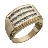 1/2 cttw Diamond 3-Row Channel Ring in 10K Yellow Gold at mygofer.com