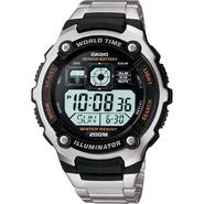 Casio Mens Calendar Day/Date Watch w/Round Digital Dial and Silvertone Expansion Band at Kmart.com