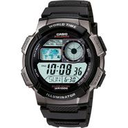 Casio Mens Calendar Day/Date Watch w/Round Digital Dial and Black Expansion Band at Kmart.com