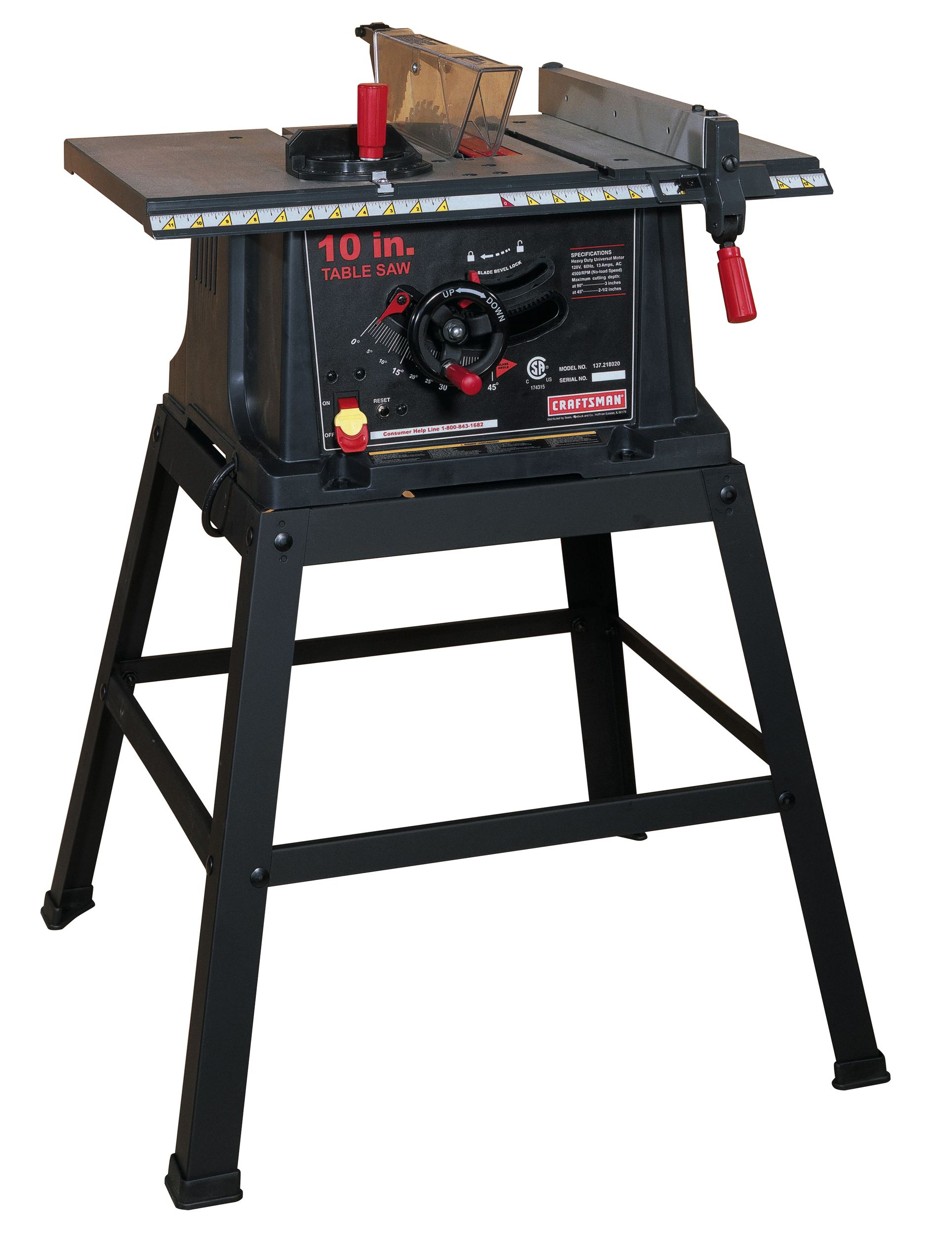 Craftsman 13 amp 10 table saw with stand 21802 greentooth Image collections