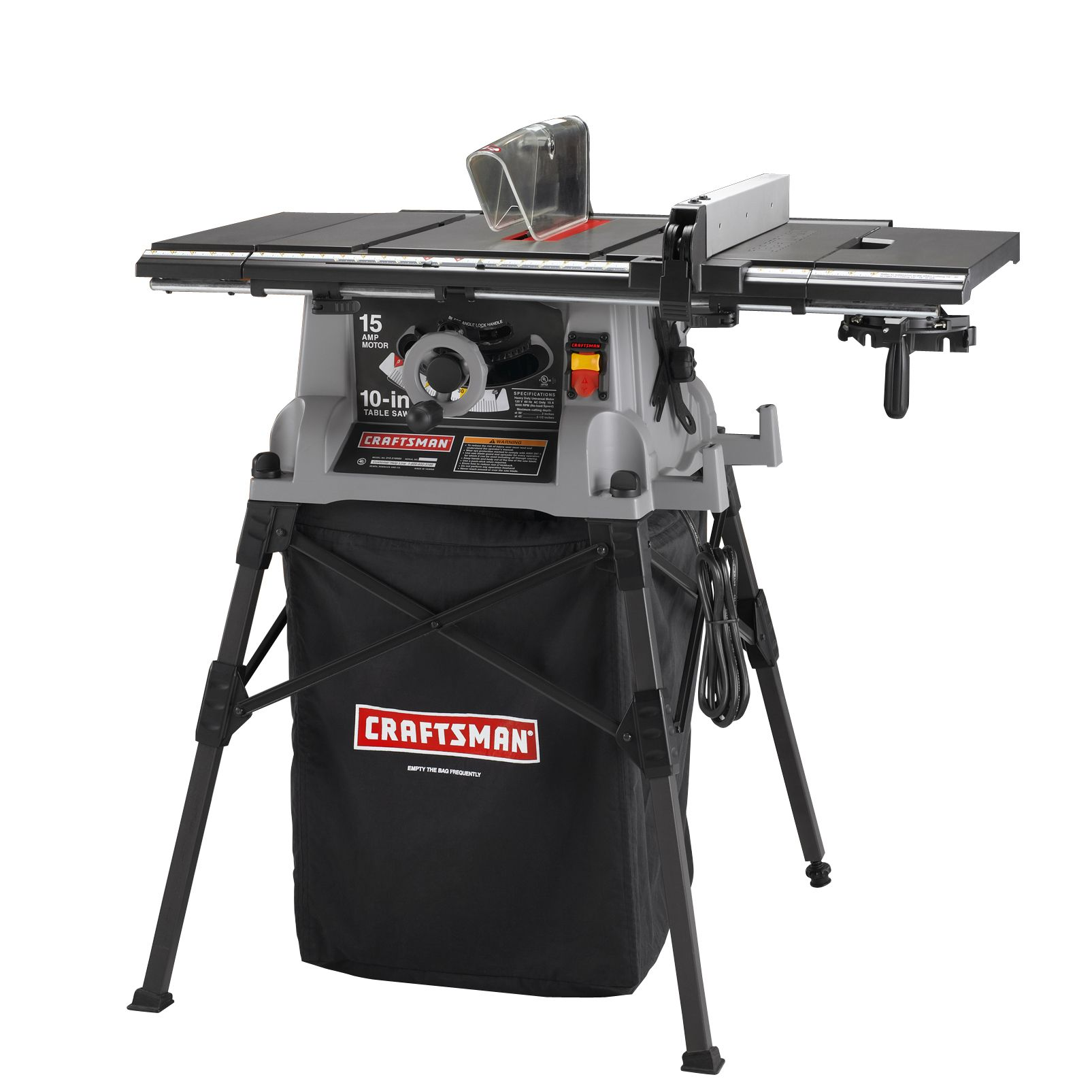 Craftsman 15 Amp 10 Quot Table Saw With Stand 28642