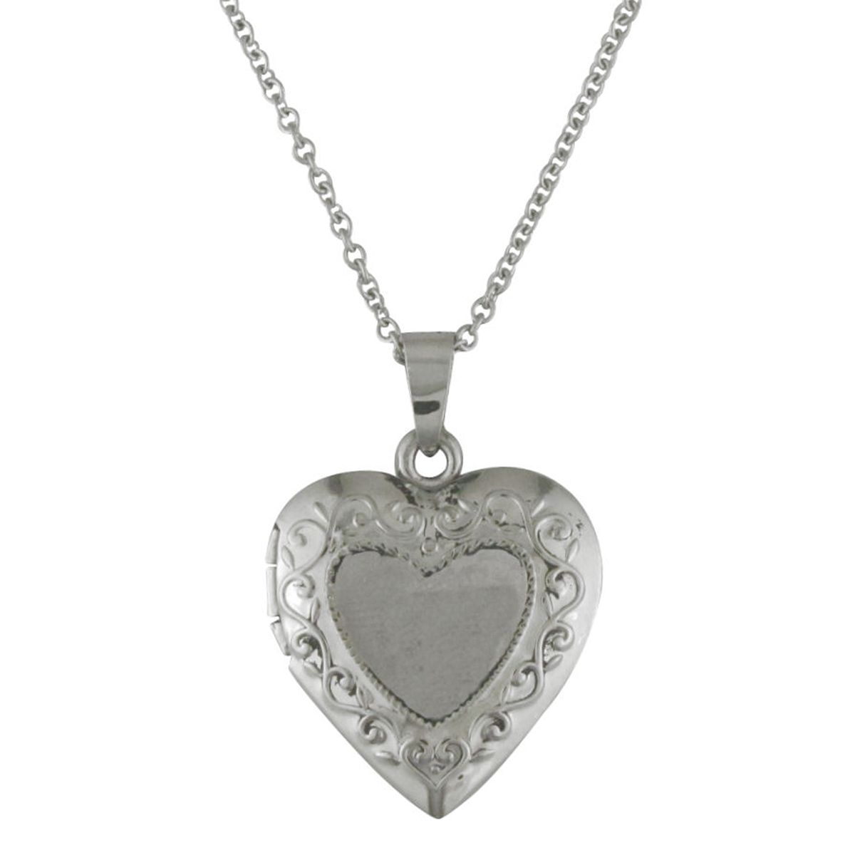 Stainless Steel Locket Pendant and Chain