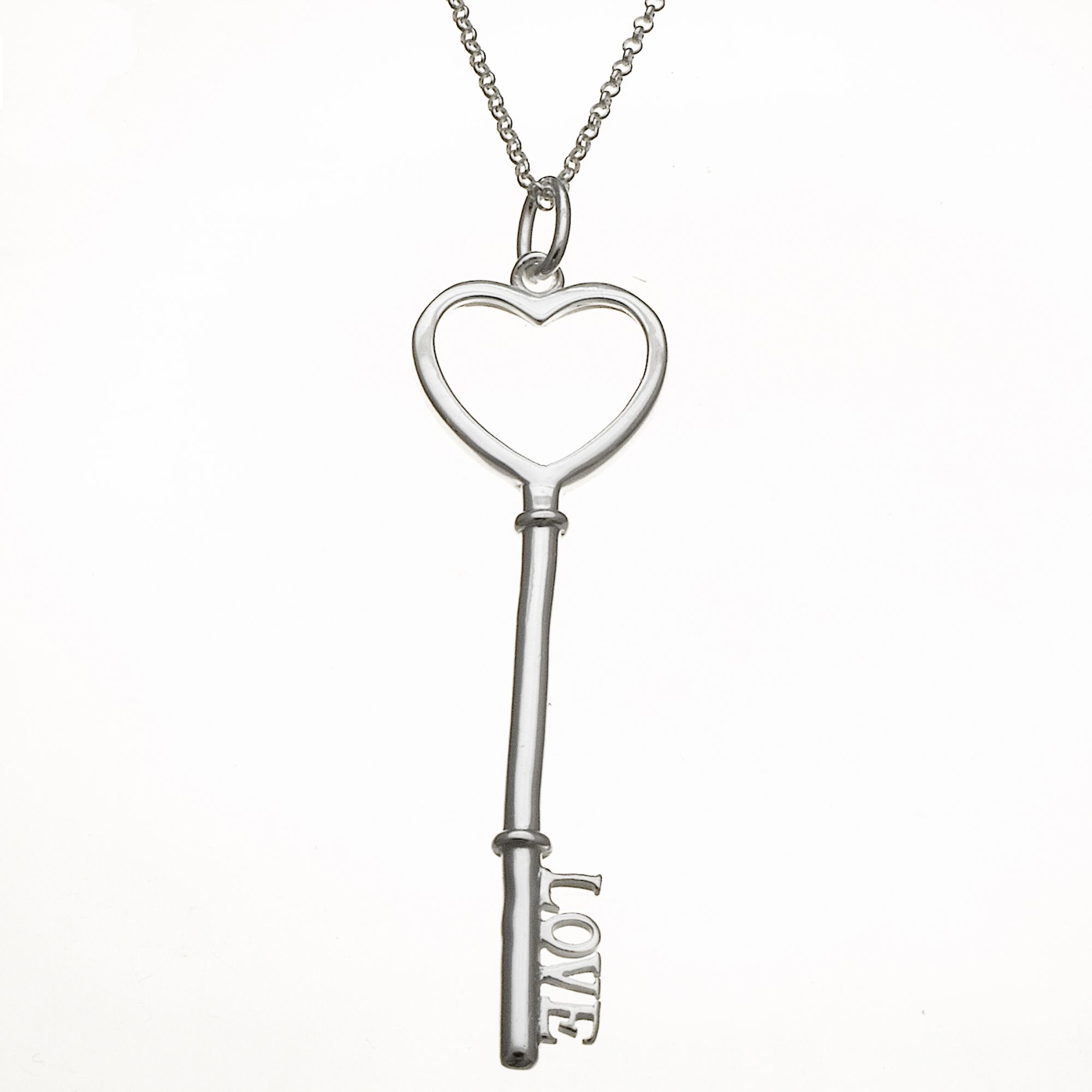 Love Key Pendant in Sterling Silver                                                                                              at mygofer.com