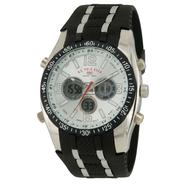 US Polo Assn. Mens Watch with Multi-function Dial and Black and Silvertone Band at Sears.com