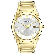 Bulova Mens Calendar Date Watch with Round Silvertone Dial and Goldtone Expansion Band at Sears.com