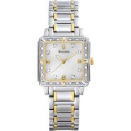Bulova Ladies Watch w/Diamond/Mother-of-Pearl Dial and Two-tone Band at Sears.com