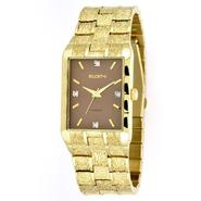 Elgin Mens Watch with Diamond Accents, Square Brown Dial and Goldtone Expansion Band at Sears.com