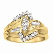 1/2 cttw Diamond Marquise Bridal Set at Sears.com
