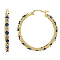 Lab Created Sapphire Hoop Earrings in 14K Gold Over Sterling Silver at Kmart.com