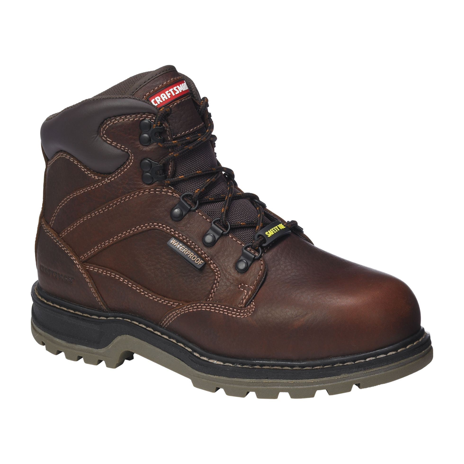 Craftsman  Men's Krypt Steel Toe Work Boot Wide Width - Brown