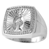 Diamond Accent Guadalupe Ring in Sterling Silver at mygofer.com