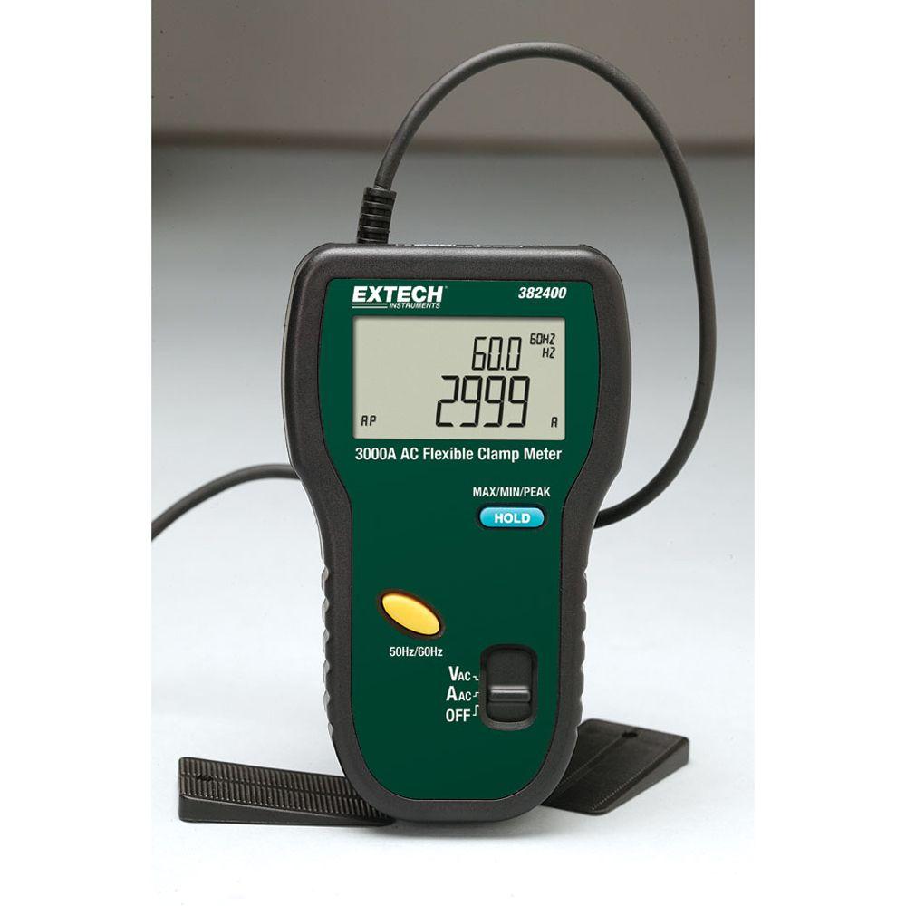 Extech 3000A Ac True Rms Flexible Clamp Meter