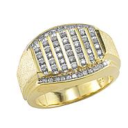 1/2 cttw Diamond Mens Ring in 18K Gold Over Sterling Silver at Kmart.com