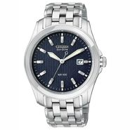 Citizen Mens Calendar Date Eco-Drive Watch with Black Dial and Stainless Steel Band at Sears.com