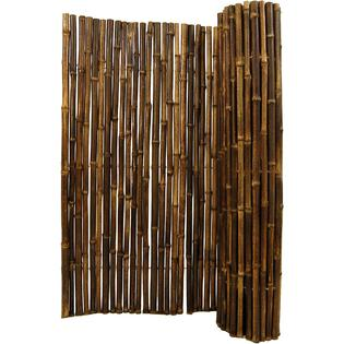 Backyard X-Scapes Black Rolled Bamboo Fencing - 1 in. D x 6 ft. H x 8 ft. L