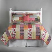 Essential Home Coral Boho Patchwork 5 Piece Quilt Set at Sears.com