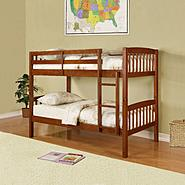 Essential Home Belmont Bunk Bed - Walnut at Sears.com