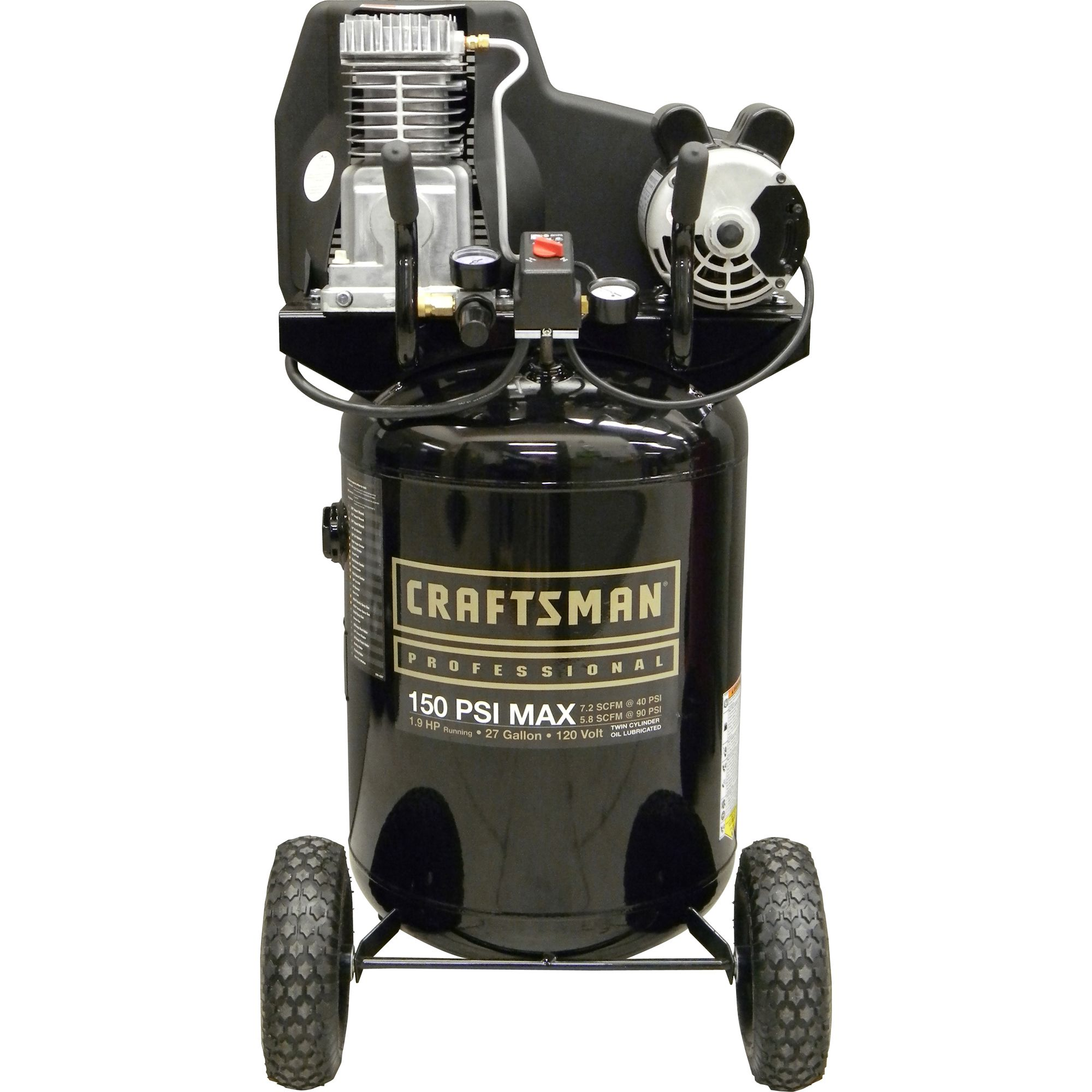 27 Gallon Vertical Portable Air Compressor
