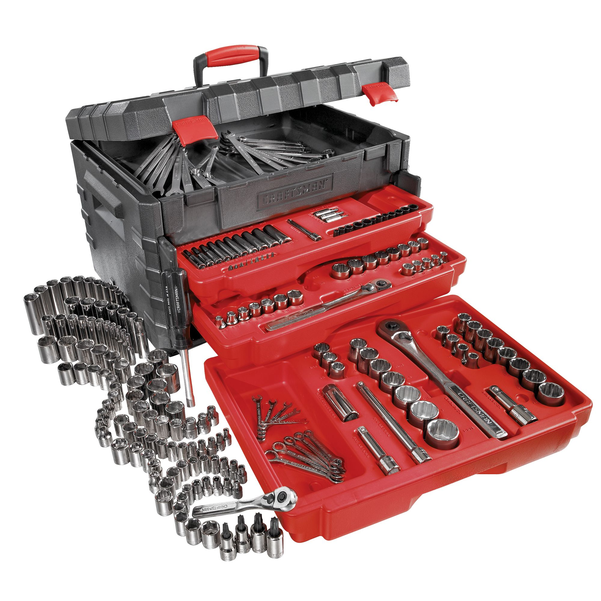 255 pc. Mechanics Tool Set with Lift Top Storage Chest                                                                           at mygofer.com