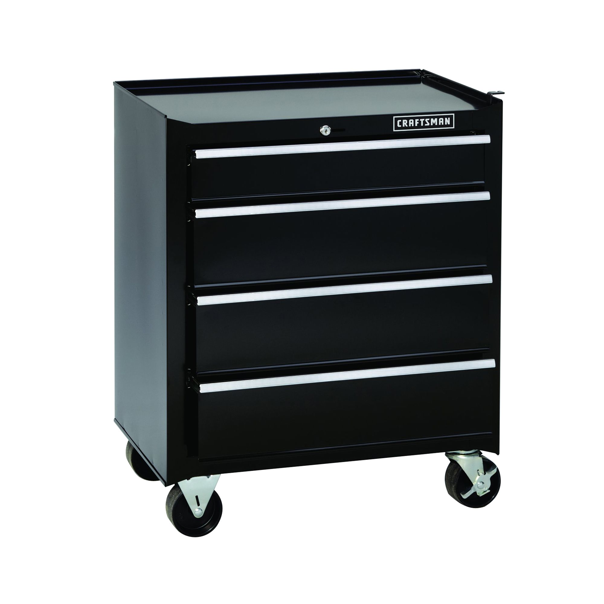 "Craftsman 26"""" Wide 4-Drawer Basic Bottom Chest - Black"