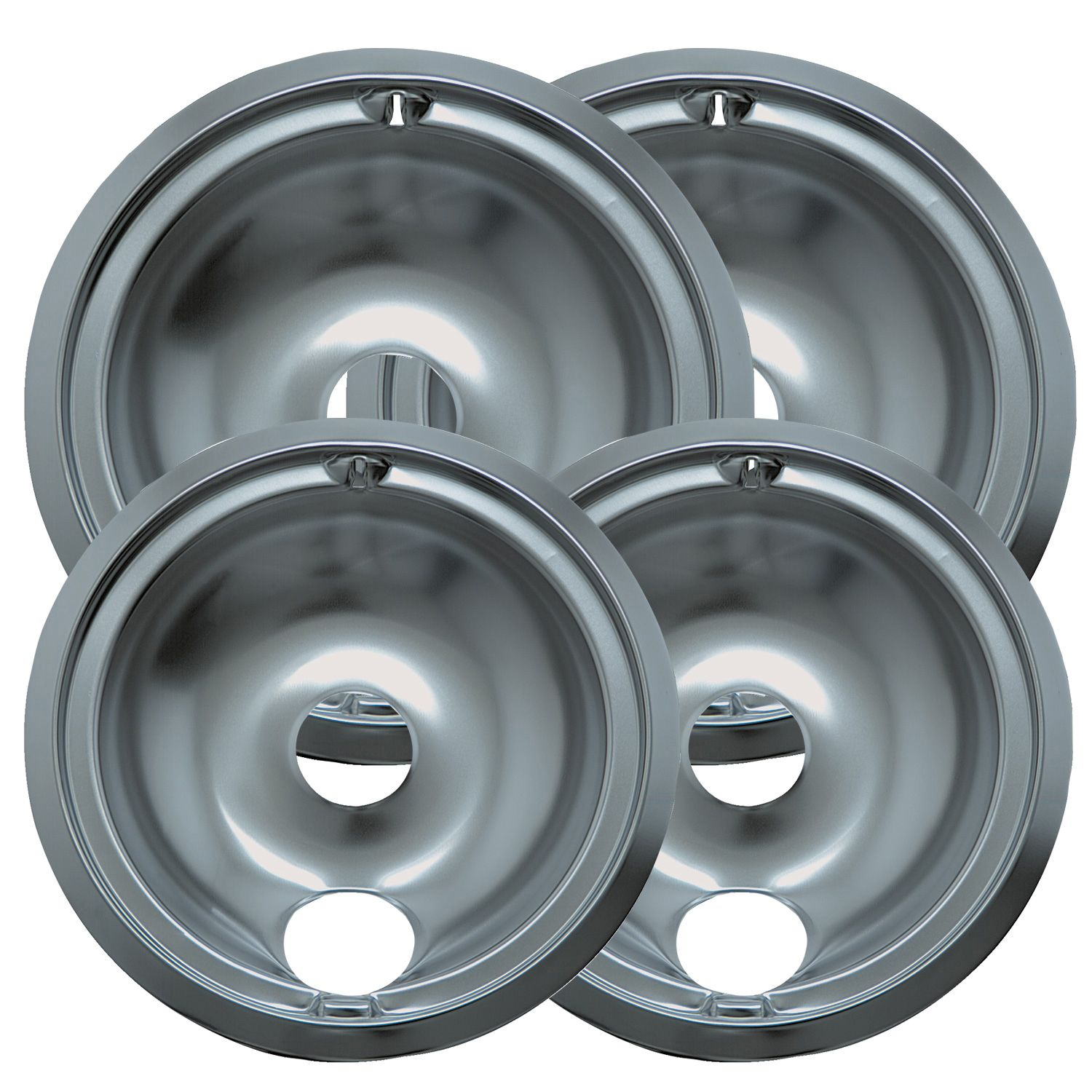 Range Kleen 4Pc Chrome Drip Pan